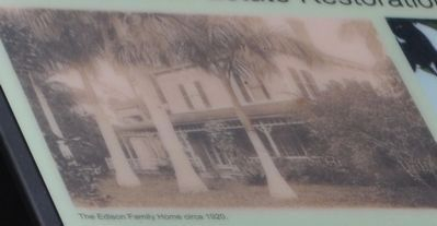 The Edison Family Home circa 1920 image. Click for full size.