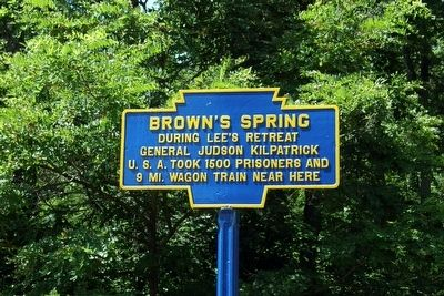 Brown's Spring Marker image. Click for full size.