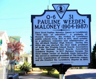 Pauline Weeden Maloney Marker image. Click for full size.