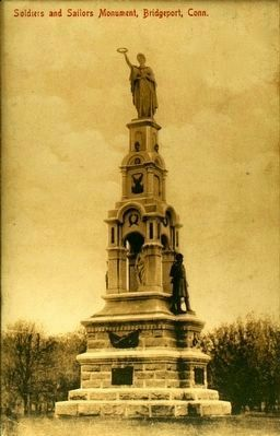 <i>Soldiers and Sailors Monument, Bridgeport, Conn.</i> image. Click for full size.