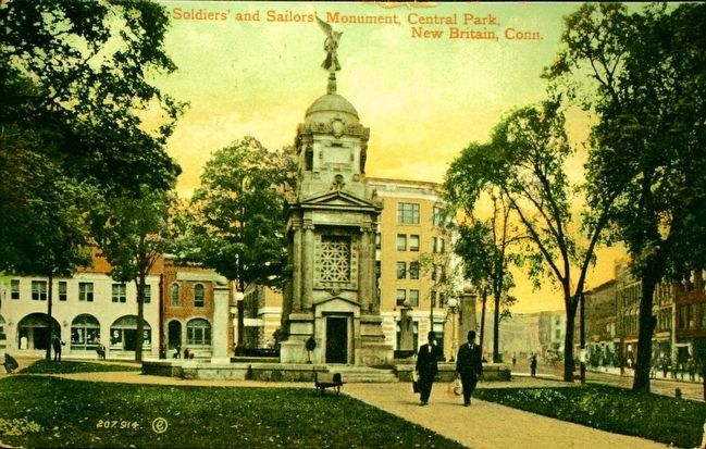 <i>Soldiers&#39; and Sailors&#39; Monument, Central Park, New Britain, Conn.</i> image. Click for full size.