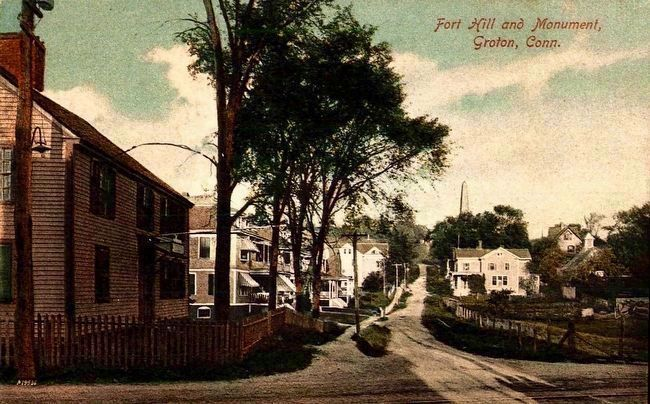 <i>Fort Hill and Monument, Groton, Conn.</i> image. Click for full size.