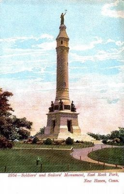 <i>Soldiers&#39; and Sailors&#39; Monument, East Rock Park, New Haven, Conn.</i> Photo, Click for full size