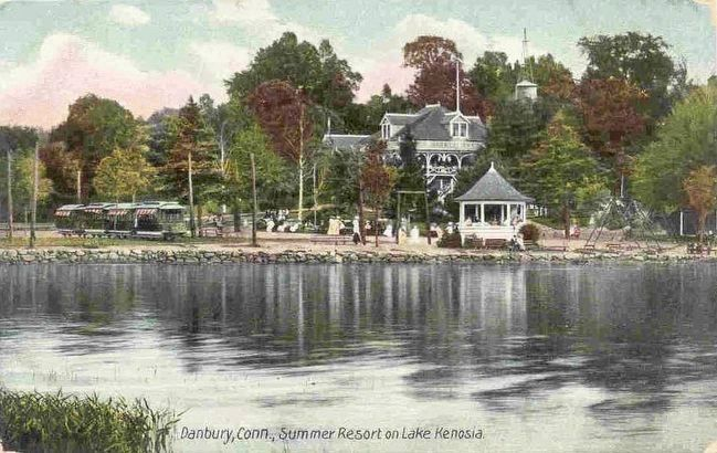 <i>Danbury, Conn. Summer Resort on Lake Kenosia</i> image. Click for full size.