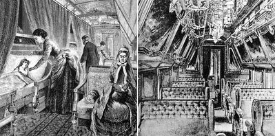 Early Pullman Sleeping Cars image. Click for full size.