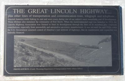 The Great Lincoln Highway... Marker image. Click for full size.