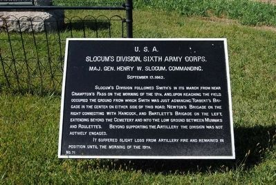 Slocum's Division, Sixth Army Corps Marker image. Click for full size.