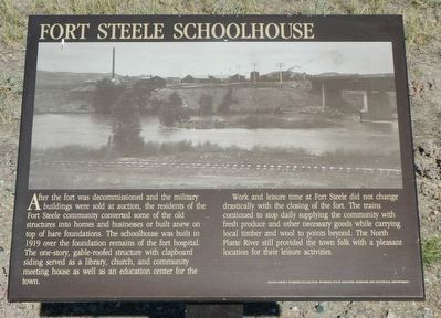 Fort Steele Schoolhouse Marker image. Click for full size.