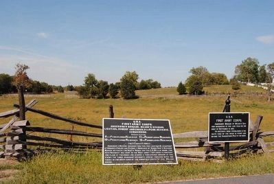 First Army Corps Marker (Right) image. Click for full size.