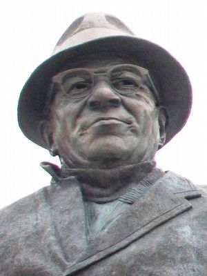 Vincent T. (Vince) Lombardi Statue Detail image. Click for full size.