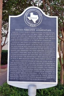 Site of Organization of the Texas Forestry Association Marker image. Click for full size.