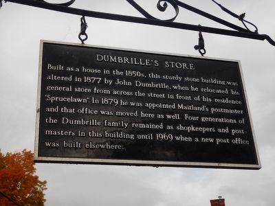 Dumbrille's Store Marker image. Click for full size.