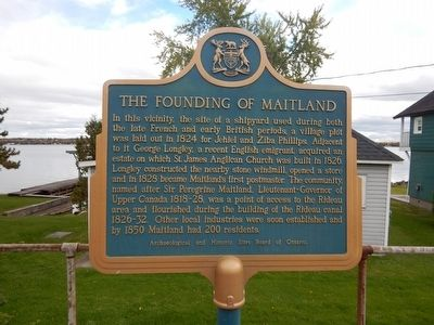 The Founding of Maitland Marker image. Click for full size.