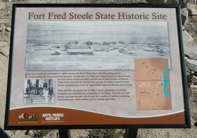 Fort Fred Steele State Historic Site Marker image. Click for full size.