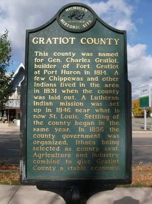 Gratiot County Marker image. Click for full size.