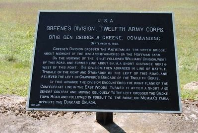 Greene's Division, Twelfth Army Corps. Marker image. Click for full size.