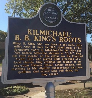 Kilmichael: B.B. King's Roots Marker (Front) image. Click for full size.