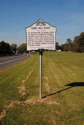 Ferry Hill Place Marker<br>At its New Location image. Click for full size.