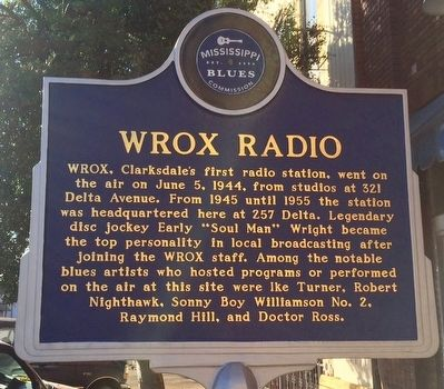 WROX Radio Marker (Front) image. Click for full size.