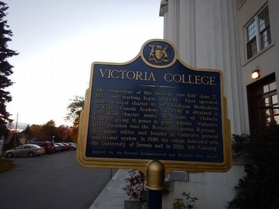 Victoria College Marker image. Click for full size.