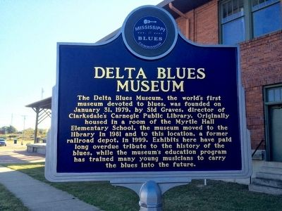 Delta Blues Museum Marker (Front) image. Click for full size.