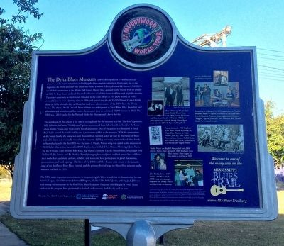 Delta Blues Museum Marker (Rear) image. Click for full size.