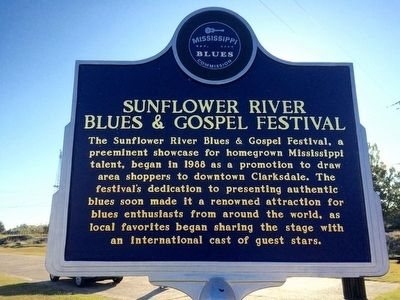 Sunflower River Blues & Gospel Festival Marker (Front) image. Click for full size.