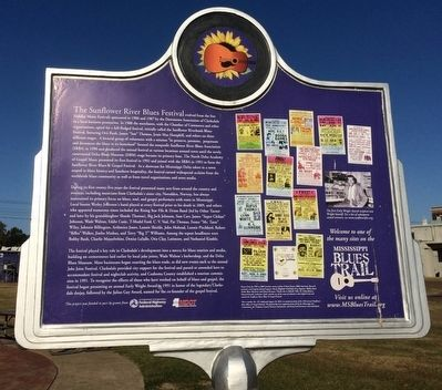 Sunflower River Blues & Gospel Festival Marker (Rear) image. Click for full size.