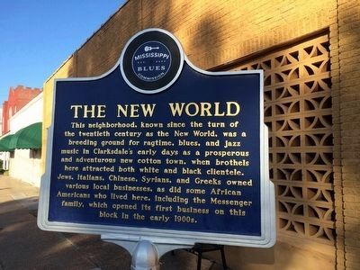 The New World Marker (Front) image. Click for full size.