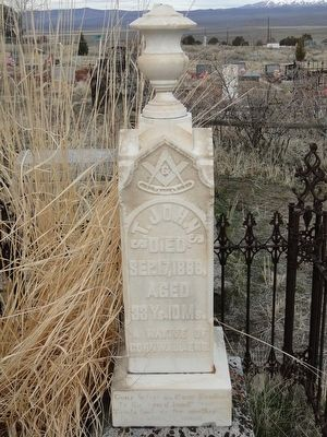 Gravestone of S.T. Johns image. Click for full size.