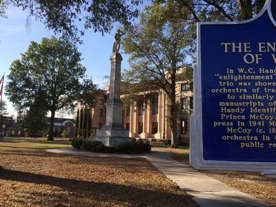 View of marker in front of Bolivar County Courthouse. image. Click for full size.
