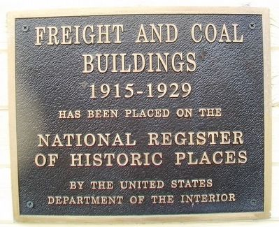Freight and Coal Buildings NRHP Marker image. Click for full size.