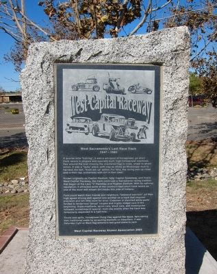 West Capital Raceway Marker image. Click for full size.