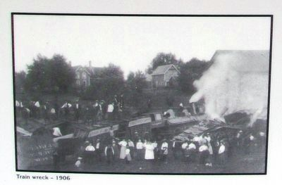 Photo Next to The Train Wreck of 1906 Marker image. Click for full size.