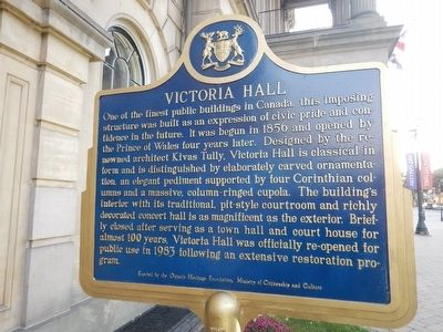 Victoria Hall Marker image. Click for full size.