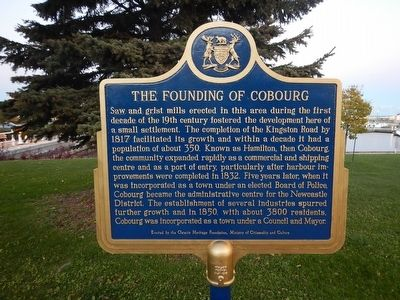 The Founding of Cobourg Marker image. Click for full size.