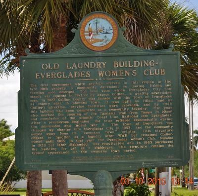 Old Laundry Building - Everglade Women's Club Marker image. Click for full size.