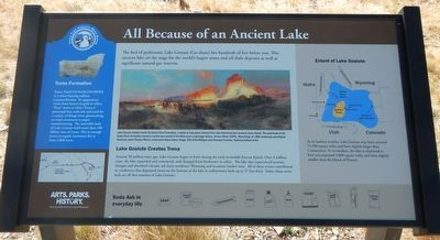 All Because of an Ancient Lake Marker image. Click for full size.