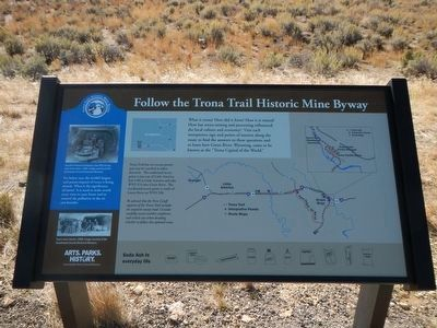 Trona Trail Historic Mine Byway information panel. image. Click for full size.