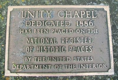 Unity Chapel NRHP Marker image. Click for full size.