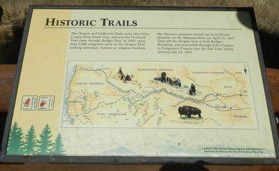 Historic Trails Marker image. Click for full size.