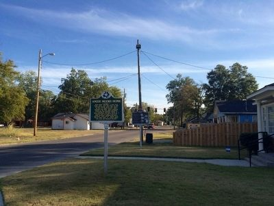 View of marker looking south on Chrisman Avenue. image. Click for full size.