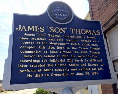 "James ""Son"" Thomas Marker (Front) image. Click for full size."
