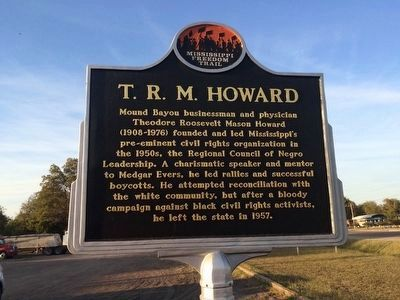 T. R. M. Howard Marker (Front) image. Click for full size.