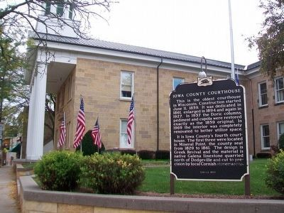 Iowa County Courthouse and Marker image. Click for full size.