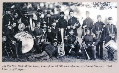 The 8th New York Militia Band, 1864, Library of Congress image. Click for full size.