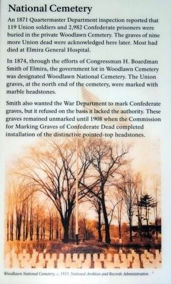Woodlawn National Cemetery Marker image. Click for full size.