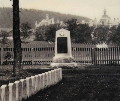 Shohola Monument, 1912. National Archives and Records Administation image. Click for full size.