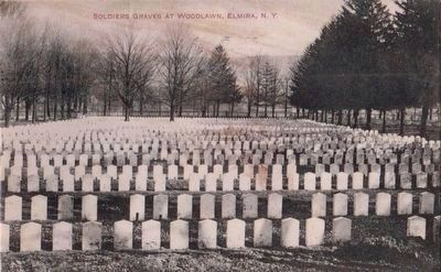 <i>Soldiers Graves at Woodlawn, Elmira, N.Y.</i> image. Click for full size.