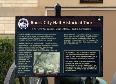 Rouss City Hall Marker image. Click for full size.